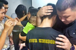 Nate Shucks ministering to youths at Sharown Christian Fellowship, Philippines, 2018
